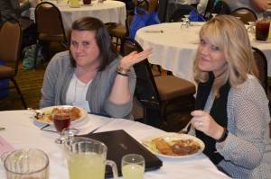 2016 conf lunch-courtney and jessica